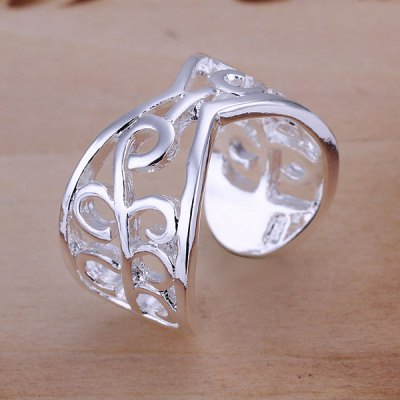 ФОТО Vintage Pattern Design Silver Plated Ring