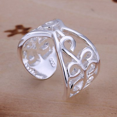 Vintage Pattern Design Silver Plated Ring
