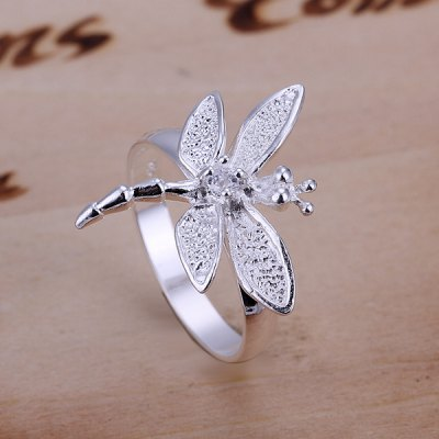 Pave Setting Dragonfly Ring