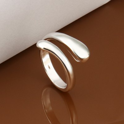Characteristic Silver Plated Openings Ring