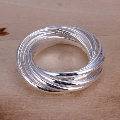 9 Wraps-ring Chic Style Silver Plated Ring For Women