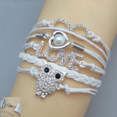Multi-Layered Owl Shape Friendship Bracelet
