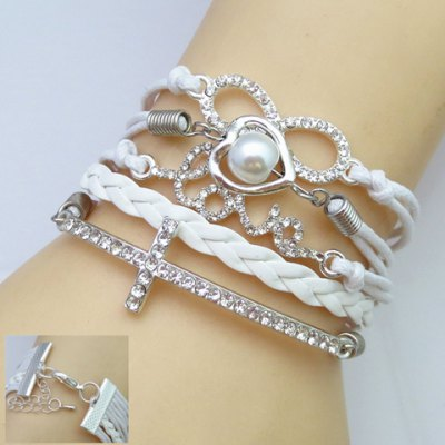 Charming Rhinestone Decorated Women's Multi-Layered Friendship Bracelet