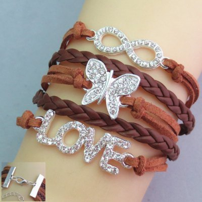 Rhinestone Embellished Friendship Bracelet