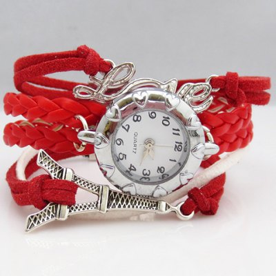 Multi-Layered Friendship Bracelet Watch
