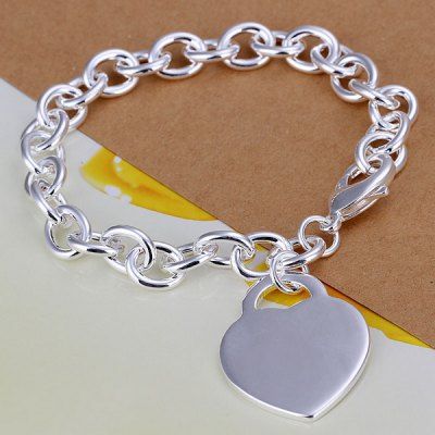 Stylish Solid Heart Thick Bracelet