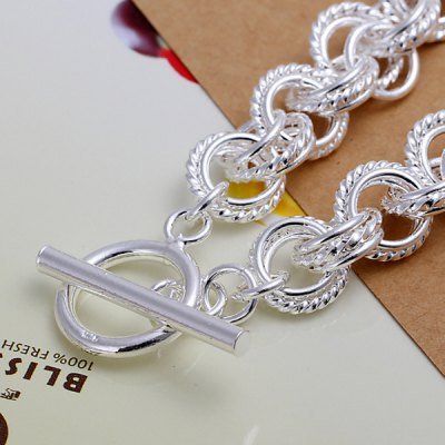 Plated Three Quoits Multilayered Bracelet