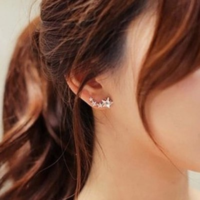 Pair of Alloy Rhinestone Star Earrings от GearBest.com INT