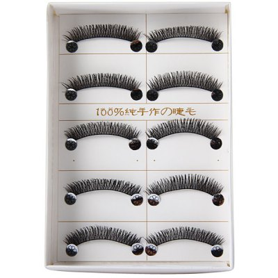 New Arrival Hand - made Super Exquisite 5 Pairs of Fake Eyelashes for Ladies  -  Number 282