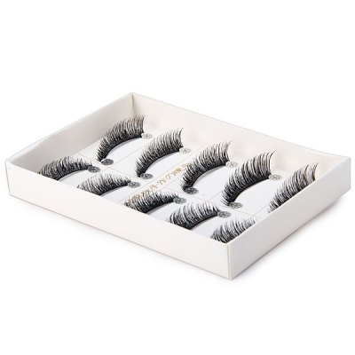 5 Pairs Elegant  - Makeup False Eyelash Purple Natural False Eyelashes  -  Number 281