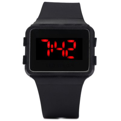 1PC LED Digital Watch Children Wristwatch Rubber Band Pin BuckleSports Watches<br>1PC LED Digital Watch Children Wristwatch Rubber Band Pin Buckle<br><br>People: Children watch<br>Watch style: LED,Outdoor Sports<br>Available Color: Black,Blue,Red,White<br>Shape of the dial: Square<br>Movement type: Digital watch<br>Display type: Digital<br>Case material: Plastic<br>Band material: Rubber<br>Clasp type: Pin buckle<br>Special features: 12/24 hours switch,Day,Month<br>The dial thickness: 0.7 cm / 0.3 inch<br>The dial diameter: 3 cm / 1.2 inches<br>The band width: 2.3 cm / 0.9 inch<br>Package weight: 0.0440 kg<br>Product size (L x W x H): 23.00 x 4.30 x 0.70 cm / 9.06 x 1.69 x 0.28 inches<br>Package size (L x W x H): 24.00 x 5.30 x 1.70 cm / 9.45 x 2.09 x 0.67 inches<br>Package Contents: 1 x Watch