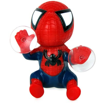 12cm Spider Doll Window Sucker Climbing Spiderman Toy Car Home Ornaments