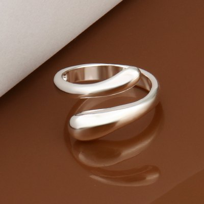 Silver Plated Openings Ring