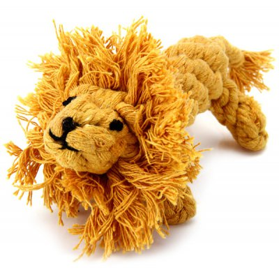 Colorful 16cm Cotton Rope Knitted Lionet Pet Toy Teeth Grinding Tool Dogs Cats Doll
