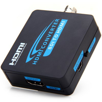 AY37 High Definition 3G SDI to HDMI Audio Video Converter Adapter  -  EU Plug
