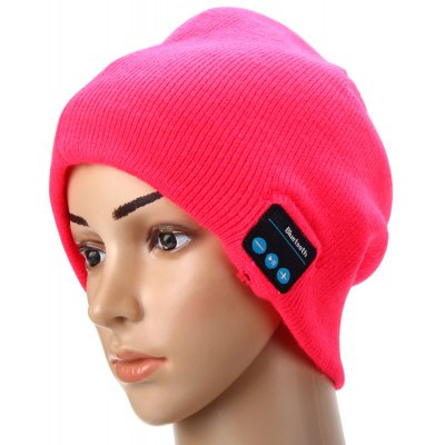 Creative 2.4GHz MIC Wireless Bluetooth Knitted Winter Hat Cap Media Music Receiver Built - in Lithium Battery for Bluetooth Devices