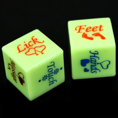 2 pcs Love Sex Adult Sexy Spice Erotic Craps Game Toy Dices Each 6 Sides