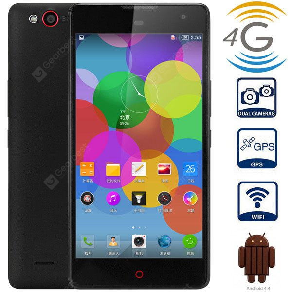 Nubia Z7 MAX Android 5.1 4G Phablet with 5.5 inch FHD IPS Screen MSM8974 2.5GHz Quad Core 2GB RAM 32GB ROM WiFi GPS NFC Gesture Sensing Dual Cameras