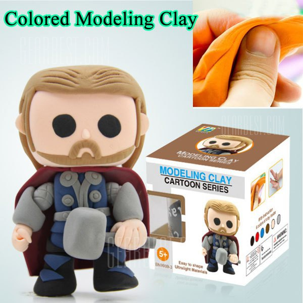 Thor Model Colored Modeling Clay Intelligence Toy Parent - child Toy