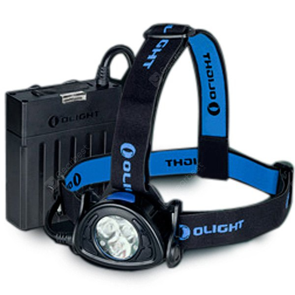 Olight H35 Wave 1500Lm Cree XM L2 3 LEDs Modes Water - resistant Headlight + Rechargeable Battery Pack