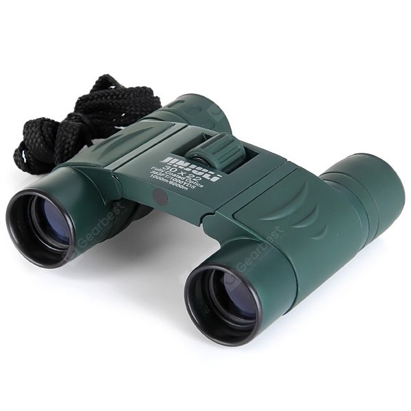 Portable 30 x 22 Roof Prism Binoculars with Neck Strap Hunting Hiking Outdoor Activities Supplies (