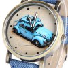 Female Car Quartz Watch Round Dial Leather Band deal