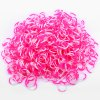 cheap White and Pink Silicone Bracelet Crazy DIY Rubber Bands 600pcs with 15 Clips