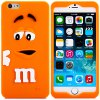 Fashionable 3D Cartoon M Chocolate Bean Silicone Back Cover Case for iPhone 6  -  4.7 inches deal
