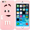 Fashionable 3D Cartoon M Chocolate Bean Silicone Back Cover Case for iPhone 6  -  4.7 inches for sale