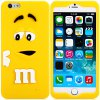 Fashionable 3D Cartoon M Chocolate Bean Silicone Back Cover Case for iPhone 6  -  4.7 inches photo