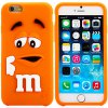 Fashionable 3D Cartoon M Chocolate Bean Silicone Back Cover Case for iPhone 6 Plus  -  5.5 inches deal