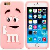 Fashionable 3D Cartoon M Chocolate Bean Silicone Back Cover Case for iPhone 6 Plus  -  5.5 inches for sale