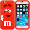 Fashionable 3D Cartoon M Chocolate Bean Silicone Back Cover Case for iPhone 6 Plus  -  5.5 inches photo