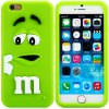 cheap Fashionable 3D Cartoon M Chocolate Bean Silicone Back Cover Case for iPhone 6 Plus  -  5.5 inches