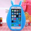 cheap Rubber Mobile Phone Cover Case for iPhone 6 Plus Cute Fat Totoro Japanese Anime