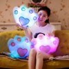 New RGB Colorful Bear's Paw Shaped Pillow Plush Toy for Christmas Gift