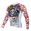best Colorful Skeleton Pattern Men Cycling Suit Long Sleeve Jersey Pants Set Bike Bicycle Racing Clothes