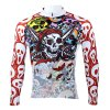 Colorful Skeleton Pattern Men Cycling Suit Long Sleeve Jersey Pants Set Bike Bicycle Racing Clothes for sale