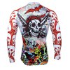 Colorful Skeleton Pattern Men Cycling Suit Long Sleeve Jersey Pants Set Bike Bicycle Racing Clothes photo
