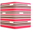 Fashionable Contrast Color Stripe Pattern PU and PC Material Cover Case for sale