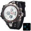 Buy Hpolw 619 Dual Movt LED Watch Week Alarm Date Stopwatch 3ATM Water Resistant WHITE
