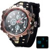 Buy Hpolw 619 Dual Movt LED Watch Week Alarm Date Stopwatch 3ATM Water Resistant-16.78 Online Shopping GearBest.com