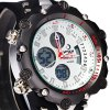 Hpolw 619 Dual Movt LED Watch Week Alarm Date Stopwatch 3ATM Water Resistant deal