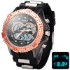 Buy Hpolw 626 LED Watch Japan Movt Double Time Alarm Week Date Chronograph 3ATM Water Resistant GOLDEN