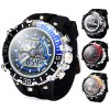 Buy Hpolw 601 LED Watch Japan Movt Double Time Alarm Week Date 3ATM Water Resistant BLUE