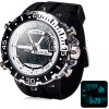Buy Hpolw 601 LED Watch Japan Movt Double Time Alarm Week Date 3ATM Water Resistant-10.92 Online Shopping GearBest.com