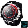 Buy Hpolw 601 LED Watch Japan Movt Double Time Alarm Week Date 3ATM Water Resistant RED