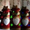 best Hand - held Ceramic Santa Clause Decoration Colors Changing LED Light for Christmas Gifts