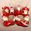 1pc Father Christmas Gift Box Candle Holders Santa Claus Ornaments Christmas Gift Holiday Decorations