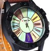 Shiweibao A3018 Quartz Male Watch Analog with Colourful Round Dial and Roman Numerals Display deal